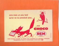 BUVARD. REIMS (MARNE). BISCUIT CHOCOLAT REM. CORBEAU ET RENARD  Achat Immédiat - Cake & Candy