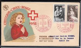 FDC 1953 - 966 & 967 Emission Croix-Rouge - 1950-1959