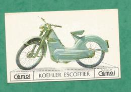 IMAGE CHOCOLAT CEMOI MOTO VINTAGE OLD MOTORCYCLE MOTO MOTOCYCLETTE CARD KOEHLER ESCOFFIER - Chocolat