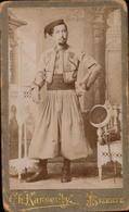 CDV, Militaire, Zouave, Bizerte, Photo Karsenty       (etat Voir Photos) - War, Military