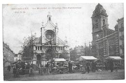 BRUXELLES - Le Marché Et L'Eglise Sainte Catherine - Marchés
