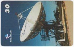 BRASIL I-008 Magnetic Telemar - Communication, Satellite Dish - Used - Brasilien