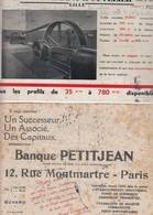 LOT DE 2 BUVARDS BANQUE PETIJEAN PARIS - Ets COLMANT & CUVELIER LILLE  / TBS - Blotters