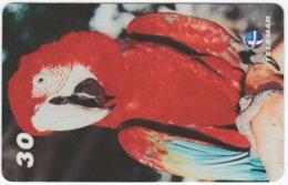 BRASIL I-016 Magnetic Telemar - Animal, Bird, Parrot - Used - Brasilien