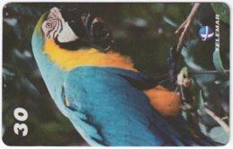 BRASIL I-017 Magnetic Telemar - Animal, Bird, Parrot - Used - Brasilien