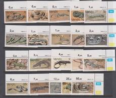 South Africa-Venda SG 119-138 1986 Reptiles, Mint Never Hinged - Venda