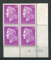 12761 FRANCE  N° 1536 ** 30c. Lilas Marianne De Cheffer C.D Du 4.1.68  TB - 1960-1969