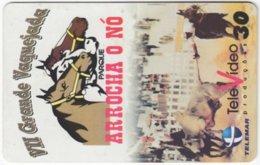 BRASIL I-067 Magnetic Telemar - Painting, Animal, Horse - Used - Brasilien