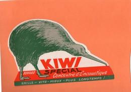 "BUVARD. "" KIWI "". ENCAUSTIQUE. OISEAU  Achat Immédiat - Wash & Clean"