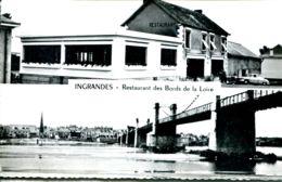 "N°72822 -cpsm Ingrandes ""restaurant Baudouin- - Hotels & Restaurants"