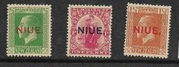 Niue, GVR 1911, 1/2d, 1d, 1 1/2d, MH * - Niue