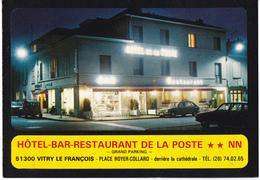 VITRY LE FRANCOIS - HOTEL DE LA POSTE - Publicité