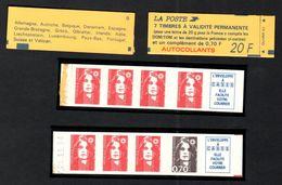 FRANCE 1993 MARIANNE DE BRIAT CARNET YT N° 1505 (avec N° 2807a Et 2824b) - 1989-96 Marianne Du Bicentenaire