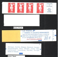 FRANCE 1994 MARIANNE DE BRIAT CARNET YT N° 1506a Petits Caractères (avec N° 2873 Et 2874ca) - 1989-96 Marianne Du Bicentenaire