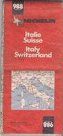 CARTE MICHELIN N° 988 ITALIE SUISSE  1979 2e Ed/ TBS - Roadmaps