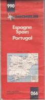 CARTE MICHELIN N° 990 ESPAGNE PORTUGAL   1982 3e Ed/ TBS - Roadmaps