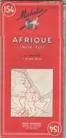 CARTE MICHELIN N° 154 AFRIQUE (NORD-EST)   1969 3e Ed/ TBS - Roadmaps