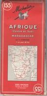 CARTE MICHELIN N° 155 AFRIQUE (CENTRE ET SUD)  MADAGASCAR  1969 7e Ed/ TBS - Roadmaps