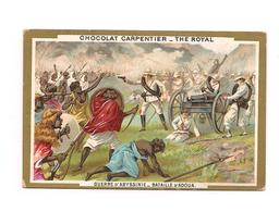 CHROMO GUERRE D'ABYSSINIE -  Bataille D'Adoua -- Chocolat CARPENTIER - Thé ROYAL - - Other