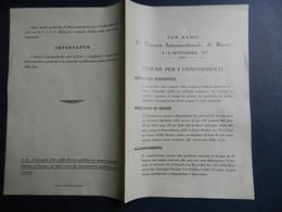 3.1) SAN REMO PRIMO TORNEO INTERNAZIONALE DI BOCCE SETTEMBRE 1937 NORME PER I CONCORRENTI - Bocce