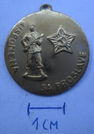 MEDAL Yugoslavia JNA ARMY USPOMENA SA PROSLAVE   KUT - Medaillen & Ehrenzeichen