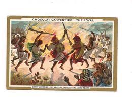 CHROMO GUERRE D'ABYSSINIE -   Les Abyssins Leur Costume Leurs Moeurs - -- Chocolat CARPENTIER - Thé ROYAL - - Other