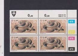 South Africa-Venda SG R120 1986 Reptiles,2c Mole Snake,reprint Dated 1988 Block 4, Mint Never Hinged - Venda