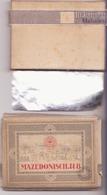 Paquet 10 Cigarettes MAZEDONISCH - Contenitori Di Tabacco (vuoti)