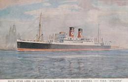 "Blue Star Line Ocean Liner T.S.S. ""Avelona"" , 20-40s - Paquebots"