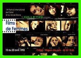 """AFFICHES DE FILM -  """" FILMS DE FEMMES """" 14e FESTIVAL INTERNATIONAL DE CRÉTEIL (94) ET DU VAL DE MARNE EN 1992 - - Affiches Sur Carte"""