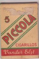 "Paquet 5 Cogarillos ""Piccola"" Vander Elst - Empty Tobacco Boxes"