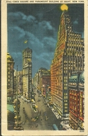 (NEW YORK )( ETATS UNIS ) TIME SQUARE AND PARAMOUNT BUILDING AT NIGHT - Places & Squares