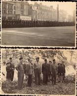 Le Mans, Chantiers, Camp De La Jeunesse, Petain, Lot De 2 Photos       (bon Etat)  Dim: 13 X 8. - Guerre, Militaire