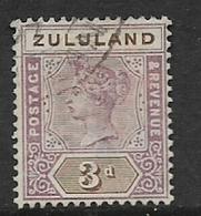 South Africa, 1894,  Zululand, 3d, , Used - Zululand (1888-1902)