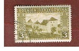 BOSNIA ERZEGOVINA (HERZEGOVINA)   - SG 188 -   1906 LANDSCAPES: THE OLD CASTLE, JAJCE  -   USED - Bosnia Erzegovina