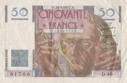 50 F Le Verrier - 1871-1952 Frühe Francs Des 20. Jh.