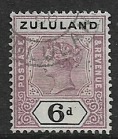 South Africa, 1894,  Zululand, 6d, , Used - Zululand (1888-1902)