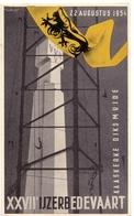 PK - Vlaanderen - XXVII IJzerbedevaart 1954 - Kaaskerke Diksmuide - AVV - VVK  Illustr. Luk Verstraete - Evénements