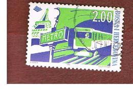 BOSNIA ERZEGOVINA (HERZEGOVINA)   - SG 590 -   1998  PARIS METRO CENTENARY -   USED - Bosnia Erzegovina