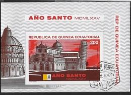 GUINEA EQUATORIALE - ANNO SANTO 1975 - FOGLIETTO USATO (MICHEL  BL 106) - Guinea Equatoriale