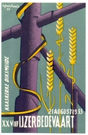 PK - Vlaanderen - XXVIII IJzerbedevaart 1955 - Kaaskerke Diksmuide - AVV - VVK  Illustr. Luk Verstraete - Evénements