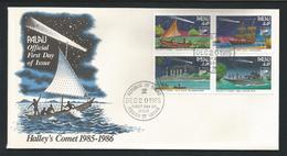 Palau 1985 Halley's Comet 4-block FDC Y.T. 83/86 ** - Palau