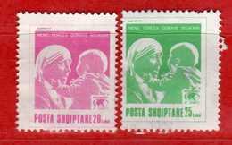 (Us3) Albania °-1994 - Mère Térésa.  Yvert. 2315C-2315D. . COME SCANSIONE. - Albanien