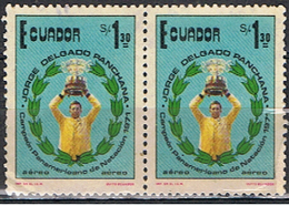 (EQ 71) ECUADOR // YVERT 594 + 594 POSTE AERIENNE // 1975 - Equateur