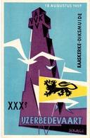 PK - Vlaanderen - XXX IJzerbedevaart 1957 - Kaaskerke Diksmuide - AVV - VVK  Illustr. Luk Verstraete - Non Classés