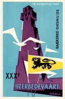PK - Vlaanderen - XXX IJzerbedevaart 1957 - Kaaskerke Diksmuide - AVV - VVK  Illustr. Luk Verstraete - Evénements