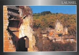 24 Le Château De Laussel (2 Scans) - Francia