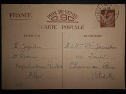 Algerie , Carte D Alger Bab El Oued 1941 Pour Chaumes En Brie - Algerije (1924-1962)