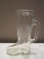 CHOPE à Bière Forme De Botte FAISAN Gravé Haut : 16,5 Cm - Glasses