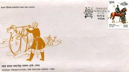 INDIA 1984 FDC THE DECCAN HORSE.BARGAIN.!! - FDC